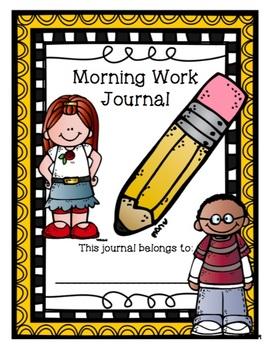 2nd Grade Morning Work Journal Set 3 [third 10 weeks]