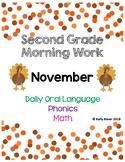 2nd Grade Morning Work * November*