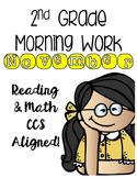 2nd Grade Morning Work - November