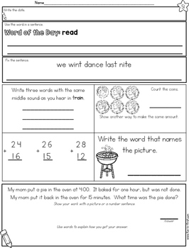2nd Grade Morning Work - Second Quarter