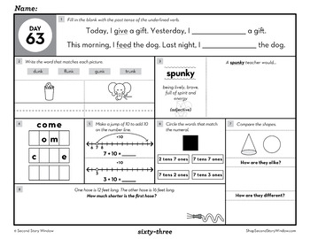 2nd Grade Morning Work Term 2 • Daily Math and ELA Spiral Review