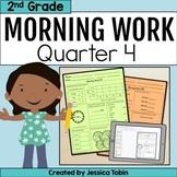 Second Grade Morning Work 4th Quarter Spiral Review digital with Google Slides