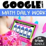 Daily Math 2nd Grade Morning Work for Google™ Classroom GROWING Bundle | Digital