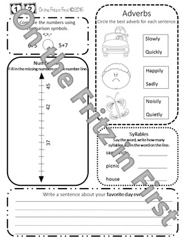 2nd Grade Morning Workbook 1-20
