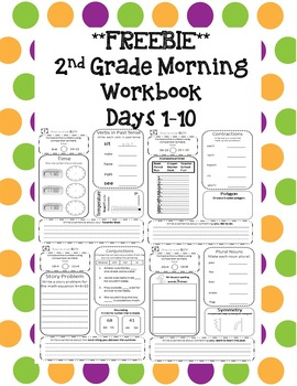 2nd Grade Morning Workbook Freebie **Common Core Aligned**