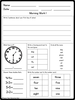2nd Grade Morning and Afternoon Routine FREEBIE