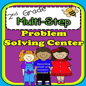 2nd Grade Multi-step Problem Solving Center COMMON CORE ALIGNED