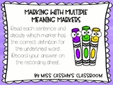 2nd Grade Multiple Meaning Words ELA/Literacy Center