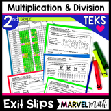 2nd Grade Multiplication and Division Exit Tickets TEKS 2.6A 2.6B