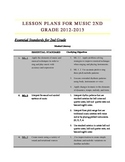 2nd Grade Music Lesson Yearly Curriculum