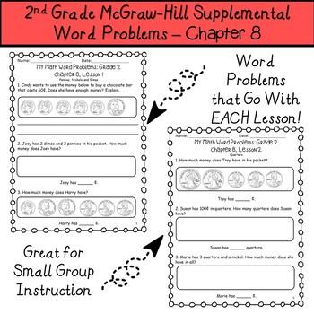 2nd Grade My Math Supplemental Word Problems-Chapter 8