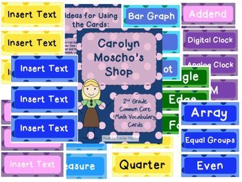 2nd Grade My Math Vocabulary Cards