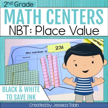 2nd Grade Math Centers- Numbers and Operations in Base Ten NBT