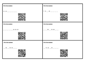 2nd Grade 2.NBT.2 With QR Codes
