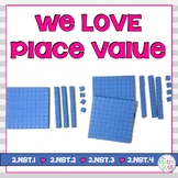 Valentine's Day Place Value Math Centers