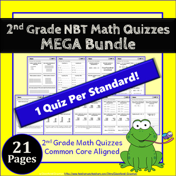 2nd Grade NBT Quizzes: 2nd Grade Math Quizzes, Numbers in Base Ten