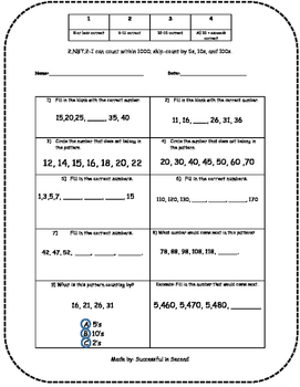 2nd Grade NBT Quizzes (ALL STANDARDS)