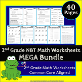 2nd Grade NBT Worksheets: 2nd Grade Math Worksheets, Numbers in Base Ten
