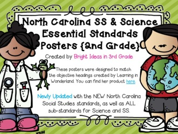 2nd Grade NC Science & Social Studies Objectives {Melonheadz Edition}