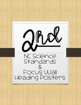 2nd Grade NC Science Essential Questions and Focus Wall Posters