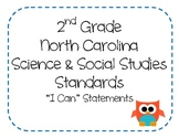"2nd Grade NC Science and Social Studies ""I Can"" Statements - OWL THEME"