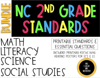 2018-19 2nd Grade NC Standards & Essential Questions ELA, Math, Science, SS