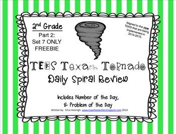 2nd Grade NEW TEKS TX Tornado Spiral Review & POD Part 2:S