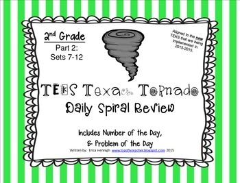 2nd Grade NEW TEKS TX Tornado Spiral Review & Prob of the