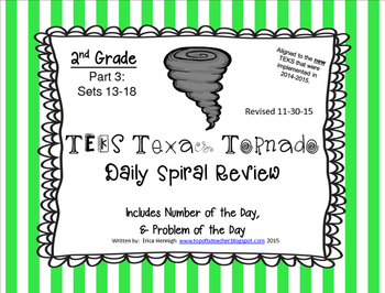 2nd Grade NEW TEKS TX Tornado Spiral Review Pt 3-Sets 13-18