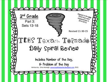 2nd Grade NEW TEKS TX Tornado Spiral Review Pt 3-Sets 13-18