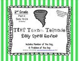 2nd Grade NEW TEKS TX Tornado Spiral Review Pt 4-Sets 19-24
