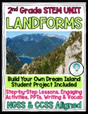 2nd Grade NGSS Landforms Mini Unit- Dream Island Project & Class PowerPoints!