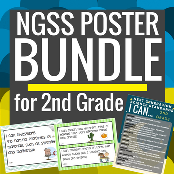 """2nd Grade NGSS Posters Bundle """"I Can..."""""""