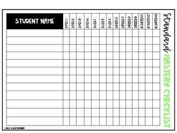 2nd Grade NGSS Science Standards Checklists and Data Tracker