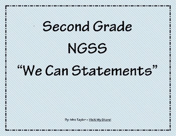 2nd Grade NGSS We Can Statements