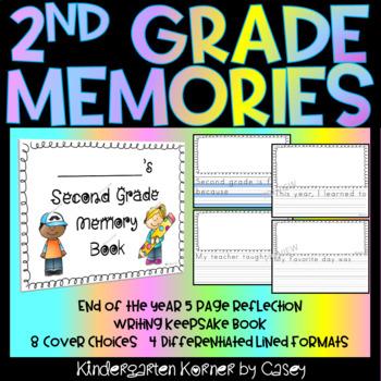 2nd Grade NO PREP Memory Books - End of year Writing Reflection Keepsake