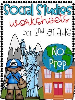 2nd Grade NO PREP Social Studies Worksheets