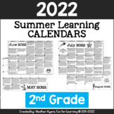 2018 2nd Grade NO PREP Summer Calendars