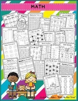 {2nd Grade} NO STRESS Summer Pack, Math & Literacy, End of Year