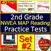 2nd Grade NWEA MAP Reading Test Prep #2  -  Printable & SELF-GRADING GOOGLE FORM