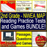 2nd Grade NWEA MAP Test Prep Reading Practice Assessments and Games