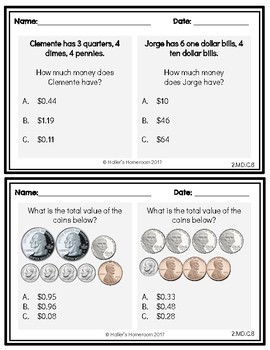 2nd Grade NWEA MAP Math Practice Questions [RIT 171 -191]