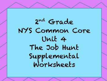 2nd Grade NYS CC Unit 4: The Job Hunt Interactive Notebook