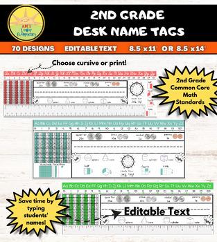 2nd Grade Desk Plates