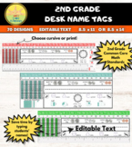 2nd Grade Desk Plates / Name Tags