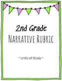 2nd Grade Narrative Writing Rubric