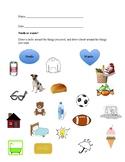 2nd Grade Needs VS Wants