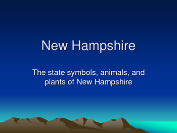 2nd Grade New Hampshire Symbols Lesson Bundle
