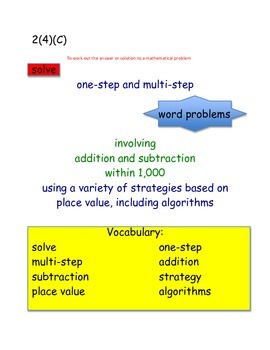 2nd Grade New Math TEKS Breakdown