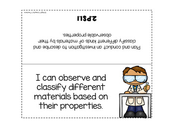 """2nd Grade Next Generation Science Standards """"I Can"""" Posters + Checklists"""